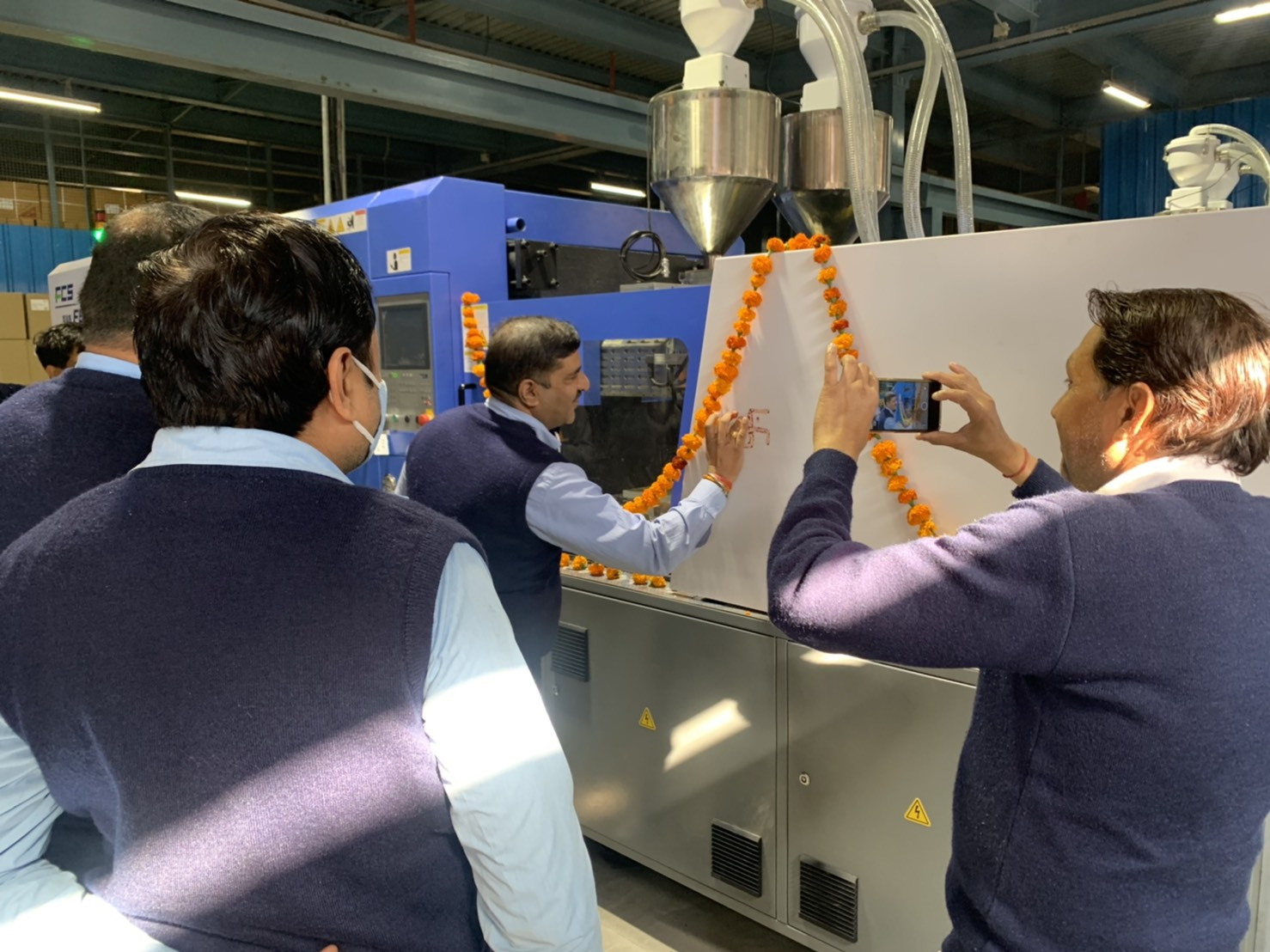 "The Indian praying ceremony ""PUJA"" for FB-280R machine."